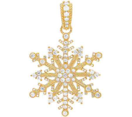 Judith Ripka Sterling & 14K Clad Diamonique Snowflake Enhance