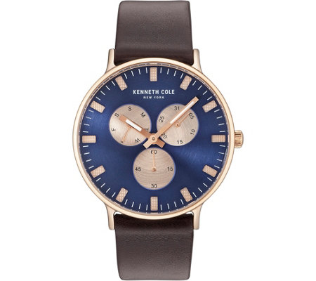 Kenneth Cole NY Men's Blue Rosetone Watch