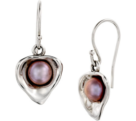 Hagit Sterling Cultured Freshwater Pearl DangleEarrings