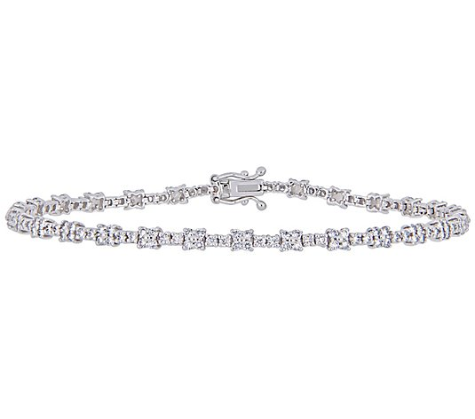 Affinity 1.65 cttw Diamond Tennis Station Bracelet, 14K