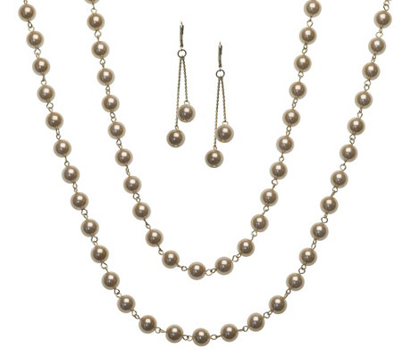 Linea by Louis Dell'Olio Chantilly Necklace & Earring Set