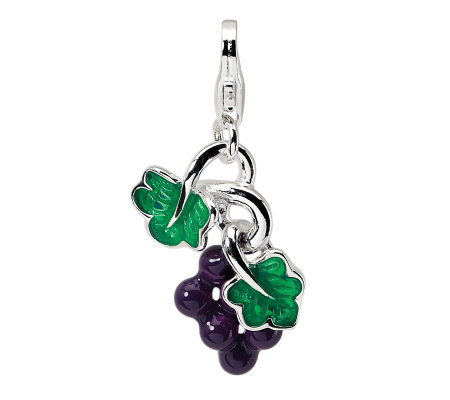 Amore La Vita Sterling Dimensional Grapes Charm