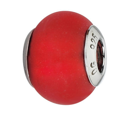 Prerogatives Sterling Red Matte Italian Muranobead
