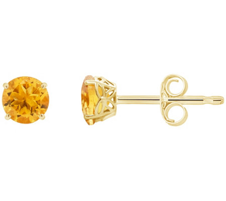 Choice Of Birthstone Stud Earrings 14k Yellowgold