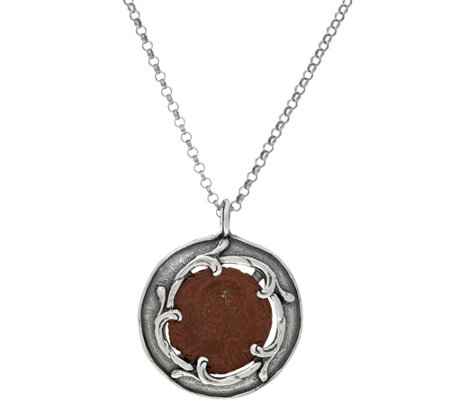 Or Paz Sterling Silver Israeli Coin Pendant with Chain