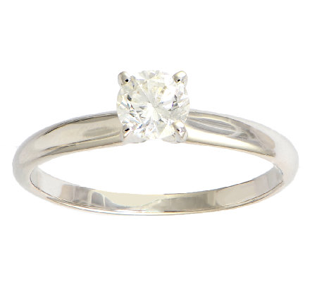 Diamond Solitaire Ring, 1/2 cttw, 14K White Gold, by Affinity