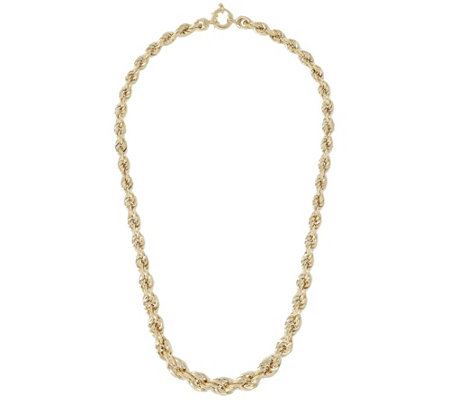 "Arte d'Oro 18"" Bold Graduated Rope Necklace, 18K 21.00g"