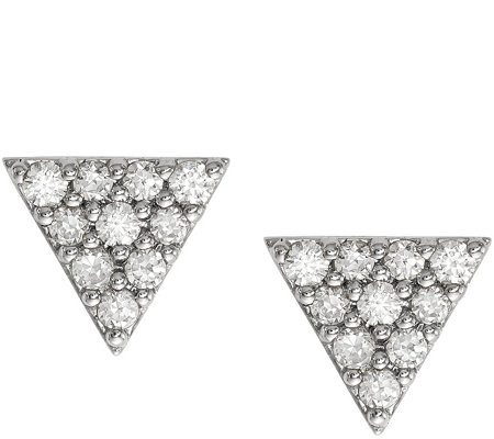 Dainty Designs 14K Diamond Accent Triangle Earrings