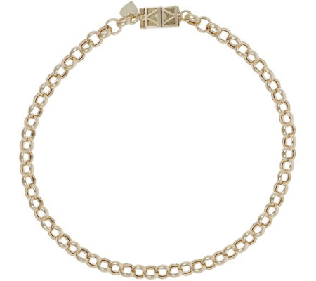 "Italian Gold 8-1/2"" Rolo Bracelet with Click Secure 14K, 3.3g"