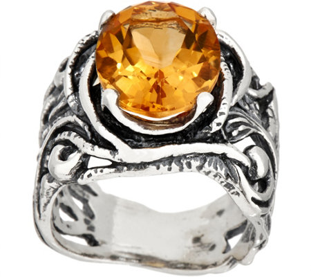Or Paz Sterling Silver 4.00 ct Oval Gemstone Filigree Ring