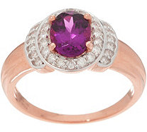 Oval Gemstone and Diamond Ring, 14K Gold - J356501
