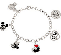 Mickey's 90th Birthday Mickey & Minnie Charm Bracelet - J359201