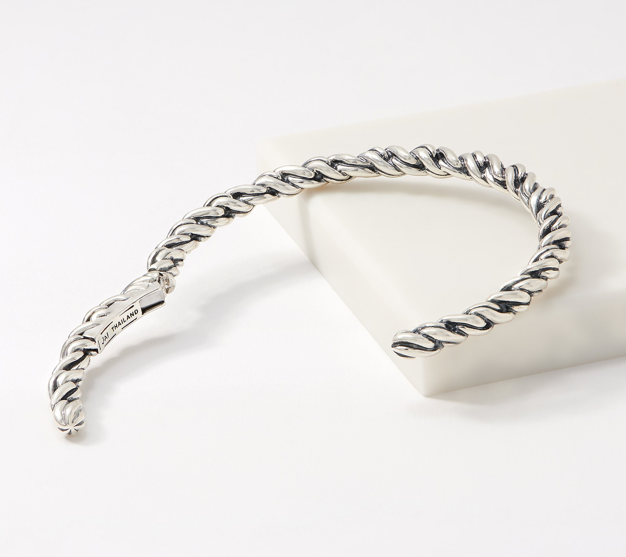 Sterling Silver Horse Herd Squeeze Latch Bangle Bracelet