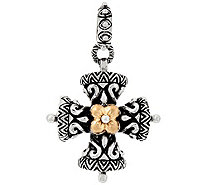 Barbara Bixby Sterling & 18K Yellow Gold CrossCharm - J389101