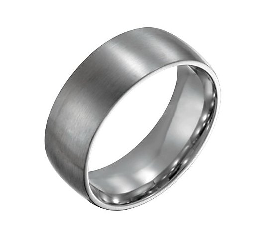 Steel By Design Men's 8mm Brushed Ring