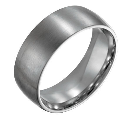 Forza Men's 8mm Steel Brushed Ring