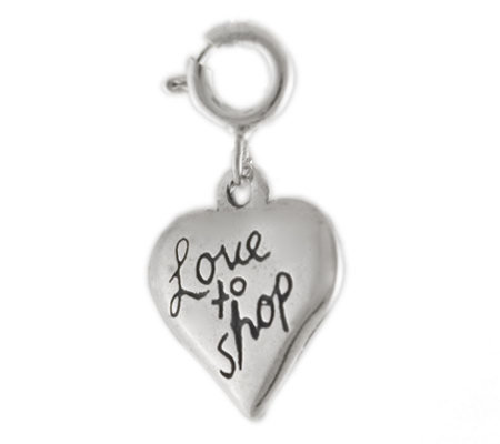 Sterling Love to Shop Charm