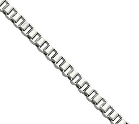 "Stainless Steel 3.2mm 20"" Box Chain Necklace"