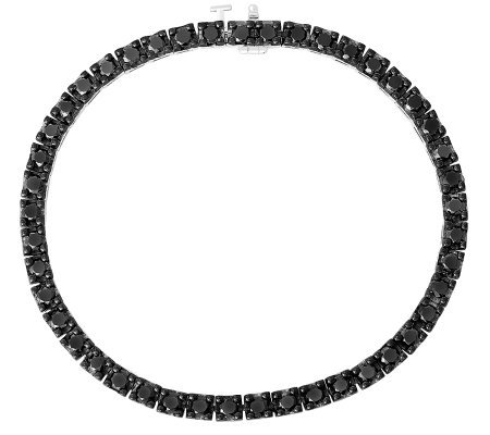Black Diamond Tennis Bracelet, Sterling, 4.50ctby Affinity