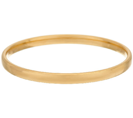 Oro Nuovo Polished 5mm Slip-on Round Bangle 14K