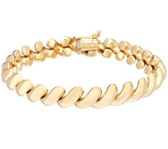 Eternagold 6 3 4 Polished San Marco Bracelet 14k Gold 11 6g
