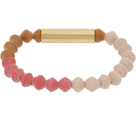31 Bits Multi-Color Beaded Sand Bar Stretch Bracelet