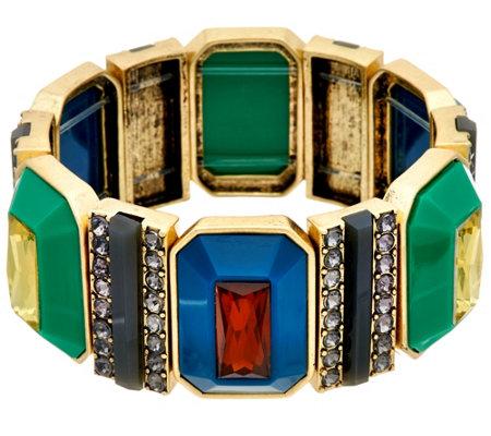 As Is Logo Links By Lori Goldstein Pyramid Stretch Bracelet