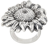 Or Paz Sterling Silver Bold Sunflower Ring - J354302