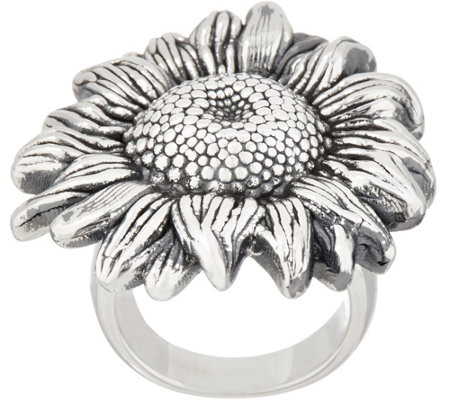 Or Paz Sterling Silver Bold Sunflower Ring