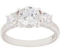 Diamonique 3.00 cttw Three Stone Ring, Sterling - J355902
