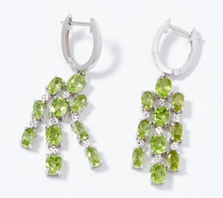 Gemstone Chandelier Earrings Sterling Silver