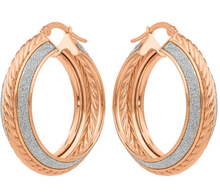 14K Glitter-Infused Hoop Earrings