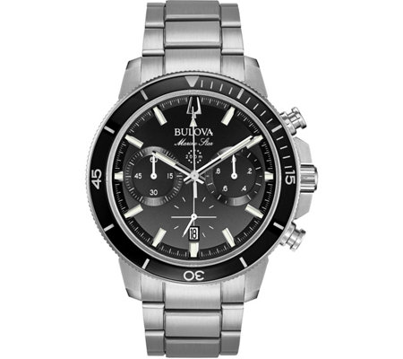 Bulova Men's Marine Star Black Dial ChronographWatch