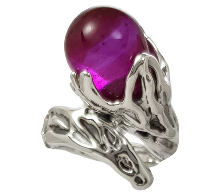 Kalos by Hagit Sterling Silver Teardrop Bead Ring