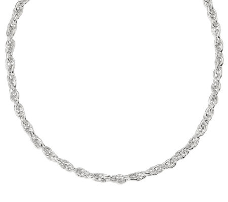"Italian Silver 24"" Loose Rope Chain, 45.7g"