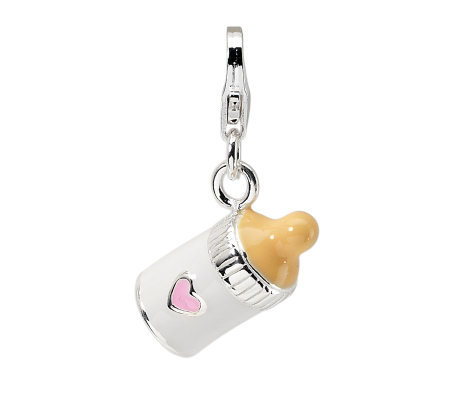 Amore La Vita Sterling Dimensional Baby BottleCharm