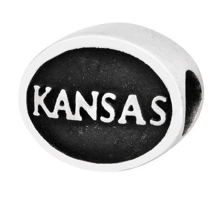 Sterling Silver University of Kansas Bead