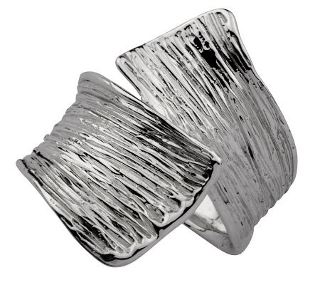 Hagit Gorali Textured Crossover Ring, Sterling