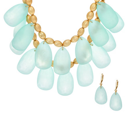 Linea by Louis Dell'Olio Frosted Necklace and Earring Set