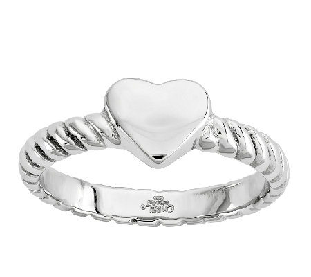 Stainless Steel Twisted Heart Ring