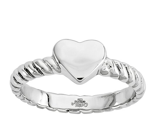 Steel by Design Twisted Heart Ring