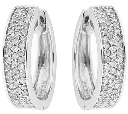 Affinity 4 10 Cttw Diamond Hoop Earrings Sterling