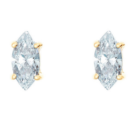 Marquise Diamond Earrings 14k Gold 1 4 Cttw By Affinity