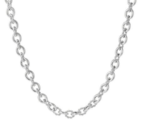"Judith Ripka Verona Sterling 16"" Necklace, 33.0g"