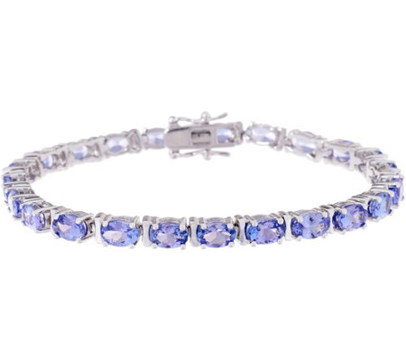 Exotic Gemstone Tennis Bracelet, 9.50 cttw, Sterling Silver