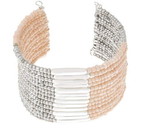 Linea by Louis Dell'Olio Seed Bead Multi Row Cuff