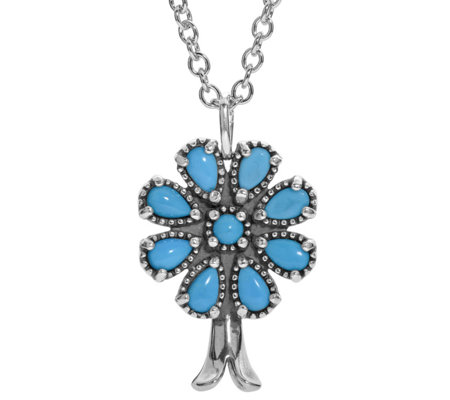 American West Sterling Sleeping Beauty Turquoise Necklace
