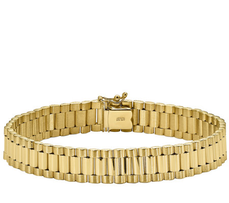 "14K Gold Men's 8"" Polished Link Bracelet, 30.6g"