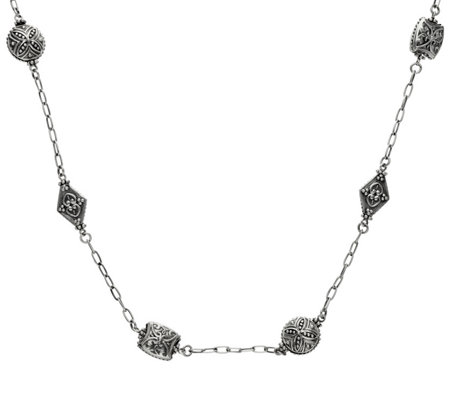 "Elyse Ryan 36"" Sterling Station Necklace"