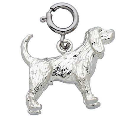 Sterling Cocker Spaniel Dog Charm